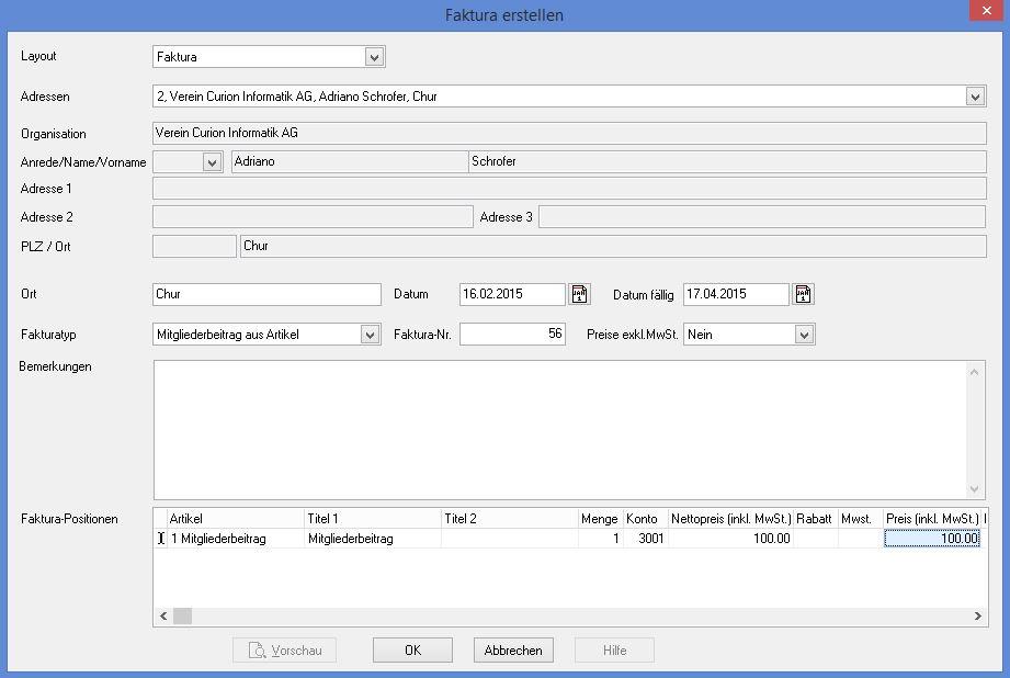 Fakturierung/Zahlungseingänge/Mahnwesen | INSIEME® - Die Vereinssoftware